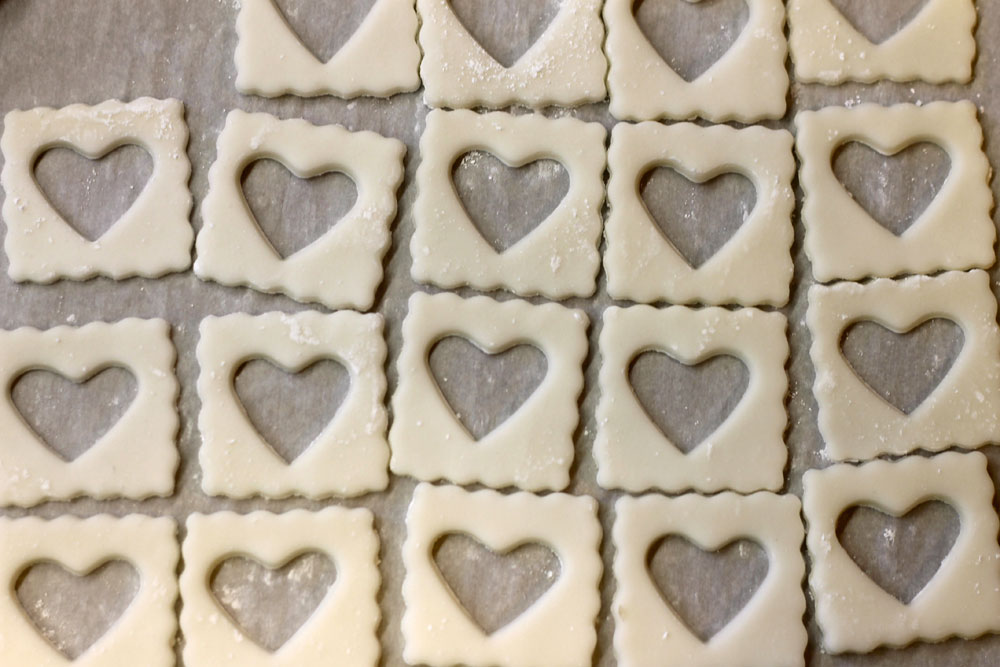 Ravioli Dough Hearts