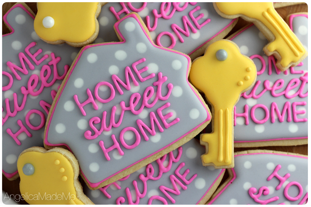 Home Sweet Home Sugar Cookies  AngelicaMadeMeAngelicaMadeMe