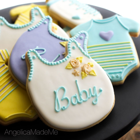 Pastel Baby Shower Decorated Cookies