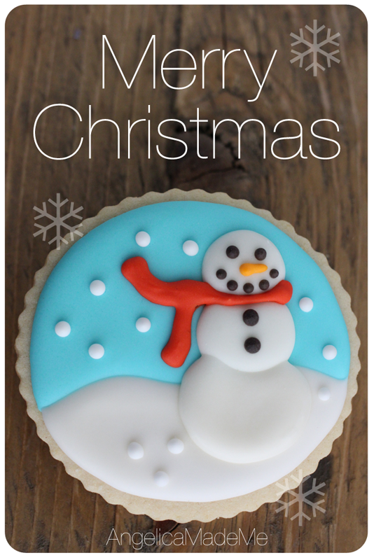 Christmas Snowman Sugar Cookies