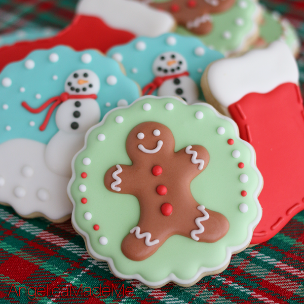 Gingerbread Man & Christmas Sugar Cookie Set