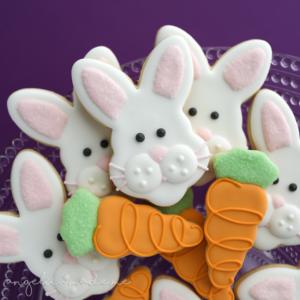 Chubby Easter Bunnies & Carrot Sugar Cookies