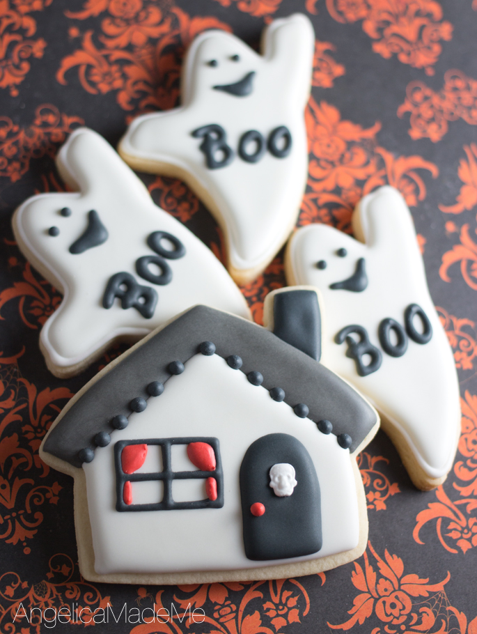 Haunted House Sugar Cookies