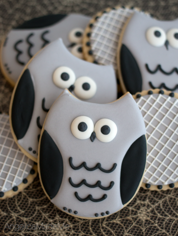 Gray Owl Halloween Sugar Cookies