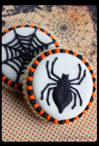 Halloween Spider Web Sugar Cookies