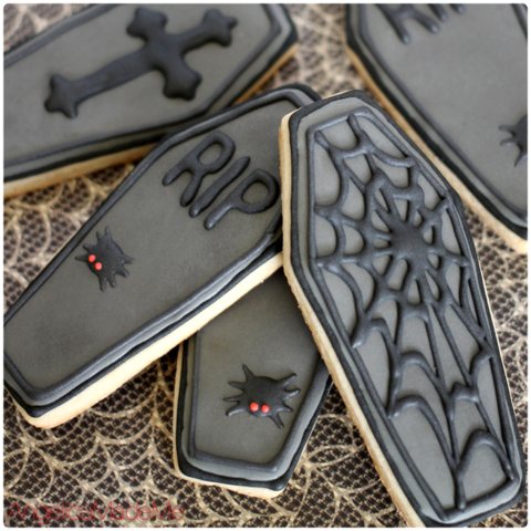 Halloween Coffin Sugar Cookies