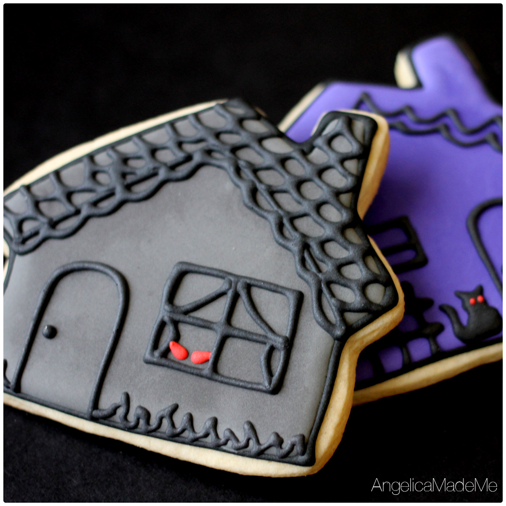 Halloween Haunted House Sugar Cookies