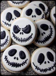 Jack Skellington Sugar Cookies