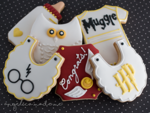 Harry Potter Baby Shower Decorated Cookies