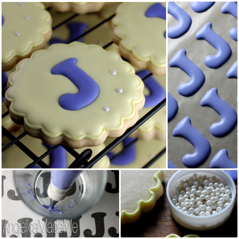Monogram Decorated Cookies