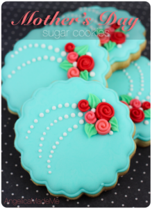 Mother's Day Flower Bouquet Decorated Cookies