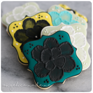 Painted Flower Decorated Cookies