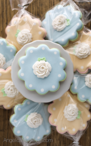 Pastel Fondant Flower Decorated Cookies