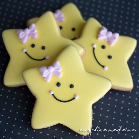 Happy Star Decorated Cookies