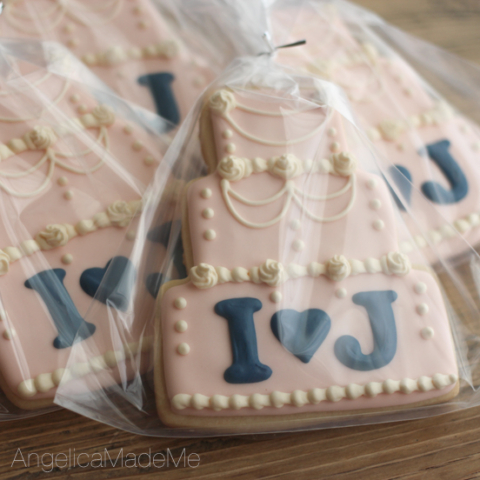 Wedding Cake Decorated Cookies